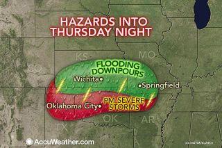 severe rain hazards for midwest