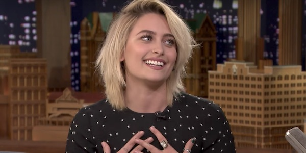 Paris Jackson on The Late Show with Jimmy Fallon 2017