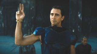 Lee Pace as Brother Day in Foundation on Apple TV+