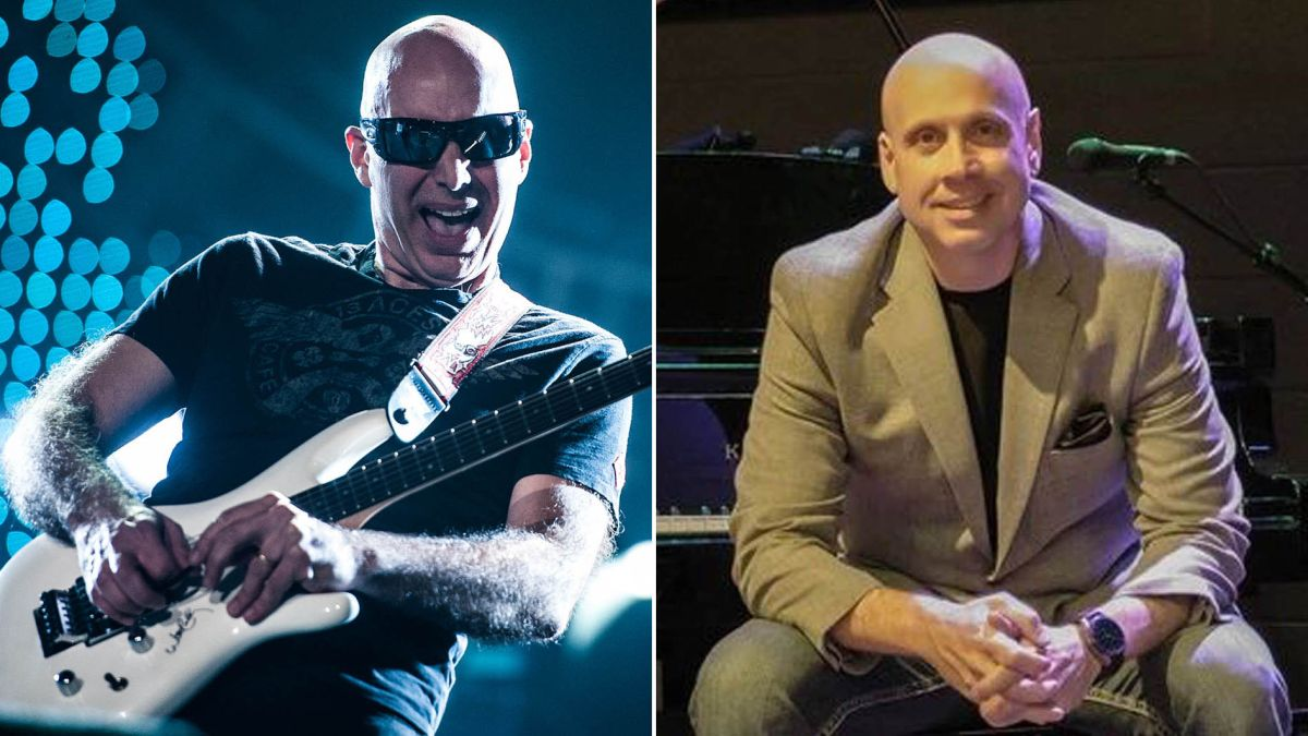 Hear Joe Satriani shred over an orchestra as he joins forces with composer Kitt Wakeley