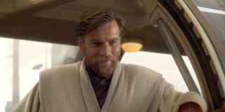 Obi Wan smiling in Revenge of the Sith