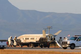 X-37B space plane after landing on June 16, 2012