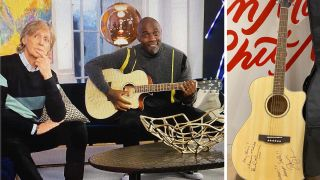 Paul McCartney, Idris Elba and Cort acoustic guitar