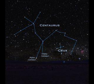 Centaurus Sky Map