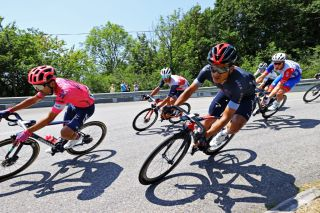Richard Carapaz of Ineos Grenadiers during stage 14 of Tour de France