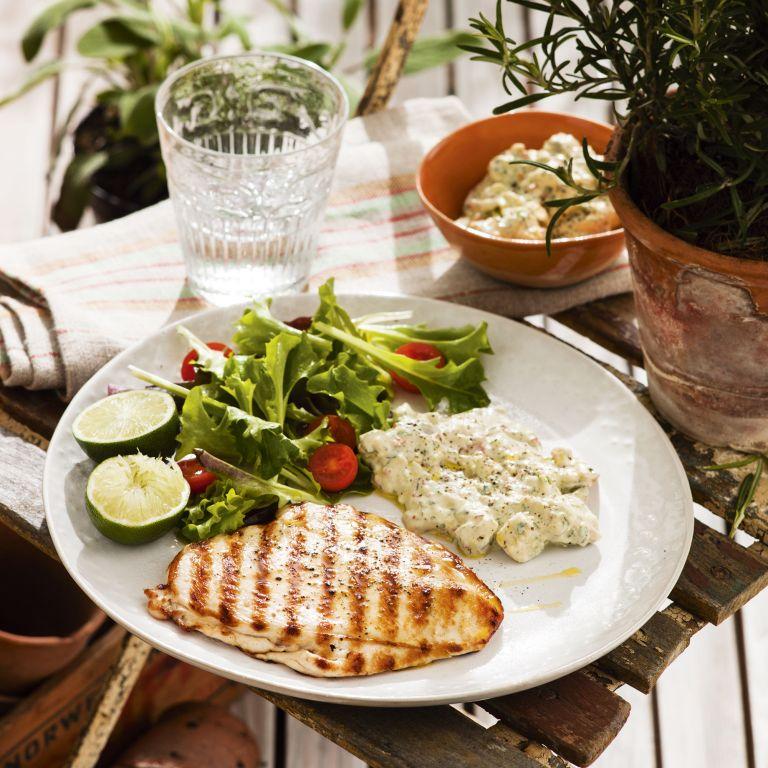 Chicken paillarde with guacamole mayo - summer recipes - chicken recipes - woman&home 2013