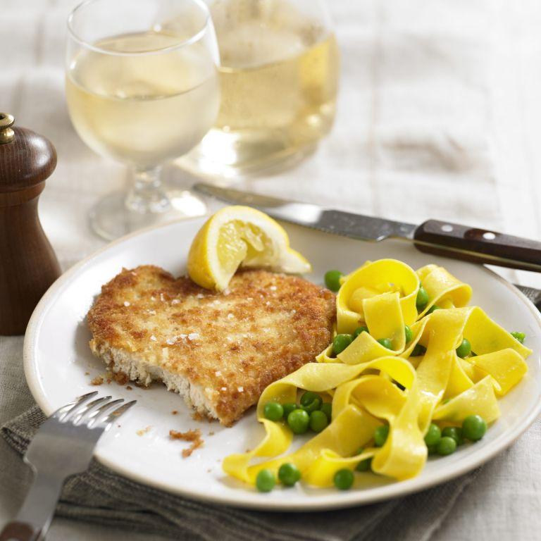 Chicken schnitzel recipe-noodles recipe-chicken recipes-recipe ideas-woman and home