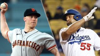 Anthony DeSclafani and Albert Pujols will face off in the Giants vs Dodgers live stream