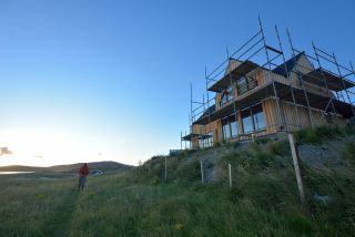 a self build on a rural plot of land