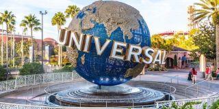The Universal Studios globe at the theme park.
