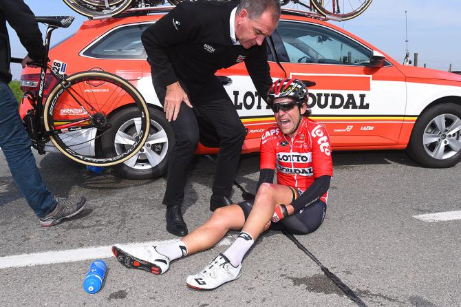 Tony Gallopin (Lotto Soudal) injured in E3 Harelbeke