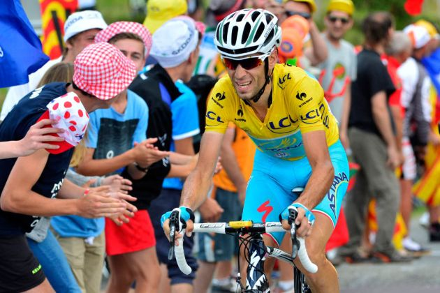Vincenzo Nibali in action during Stage 18 of the 2014 Tour de France