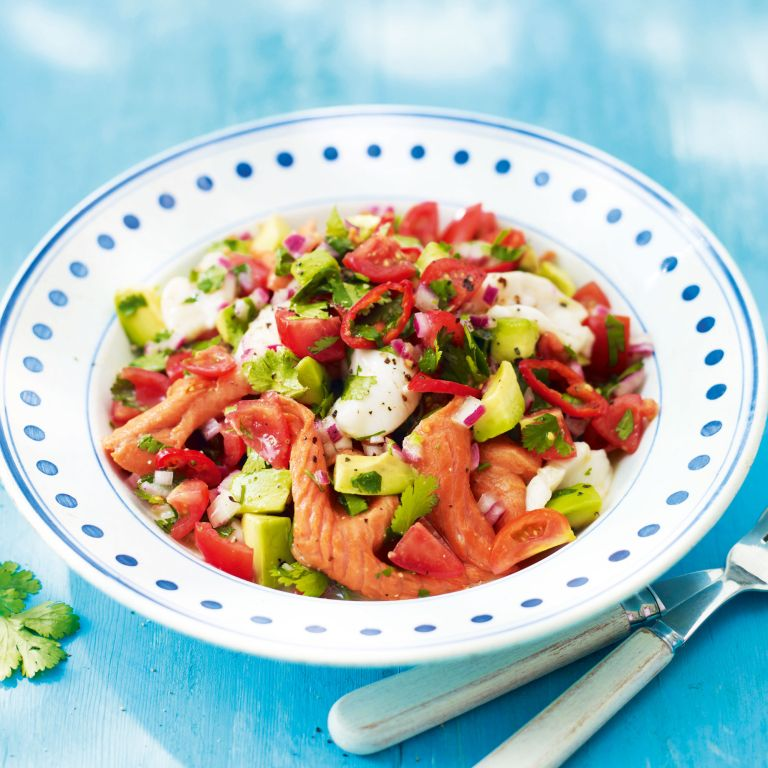 Salmon and Scallop Ceviche-summer food-woman and home