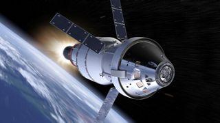 Orion capsule art