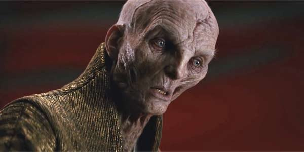 Supreme Leader Snoke in The Last Jedi