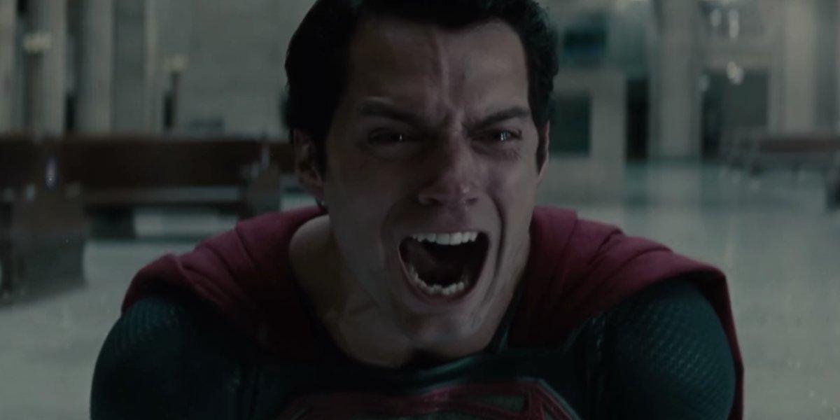 Superman screams in shame in Man of Steel