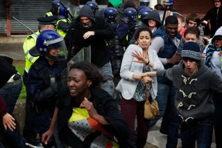 Riots on the streets of Holby!
