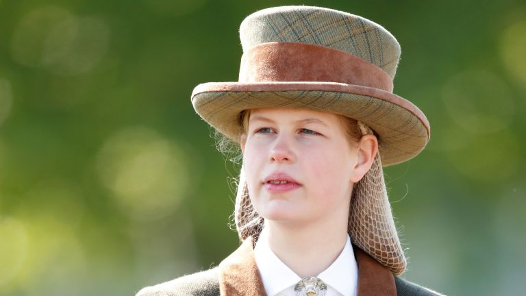 Lady Louise Windsor takes part in 'The Champagne Laurent-Perrier Meet of the British Driving Society' on day 5 of the Royal Windsor Horse Show in Home Park on May 12, 2019 in Windsor, England
