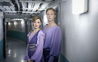 Torvill & Dean - the stars of the ITV drama in costume