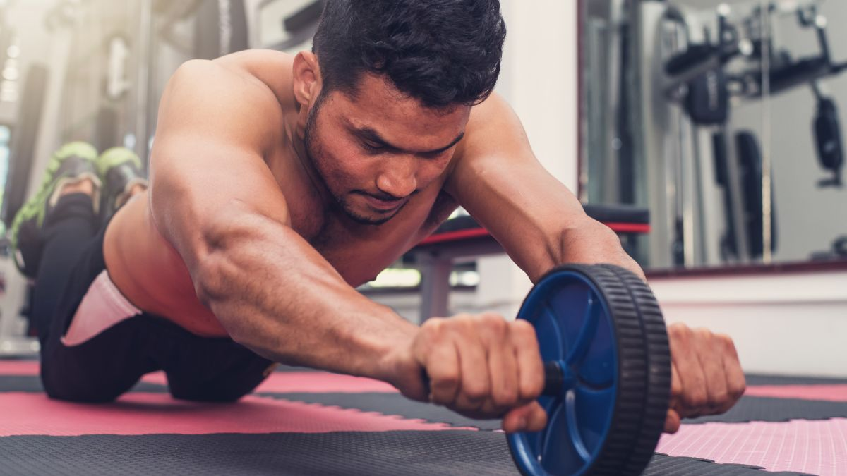 Have a go at using these ab wheels that are key to building a strong core