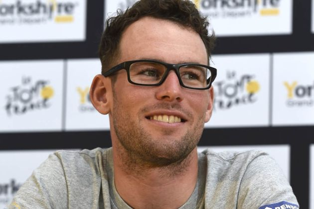 Mark Cavendish at a press conference before the 2014 Tour de France