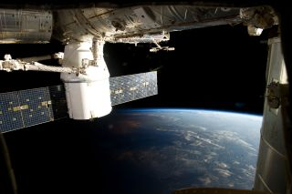 SpaceX Dragon and Space Station Meet