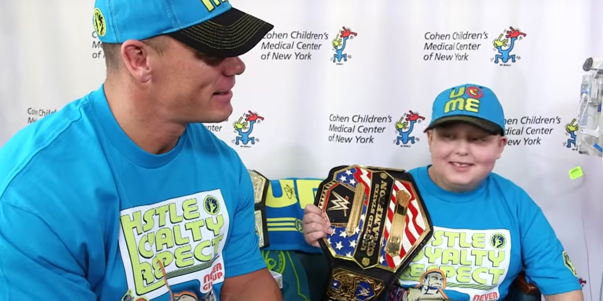John Cena granting yet another wish for a sick child for the Make-A-Wish Program
