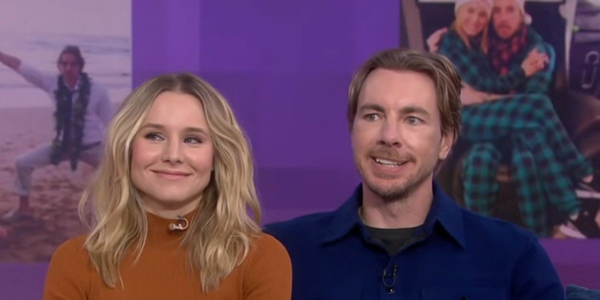 Kristen Bell and Dax Shepard being interviewed on NBC's Today