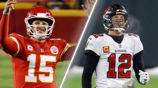 Super Bowl 2021 free VPN - Patrick Mahomes and Tom Brady