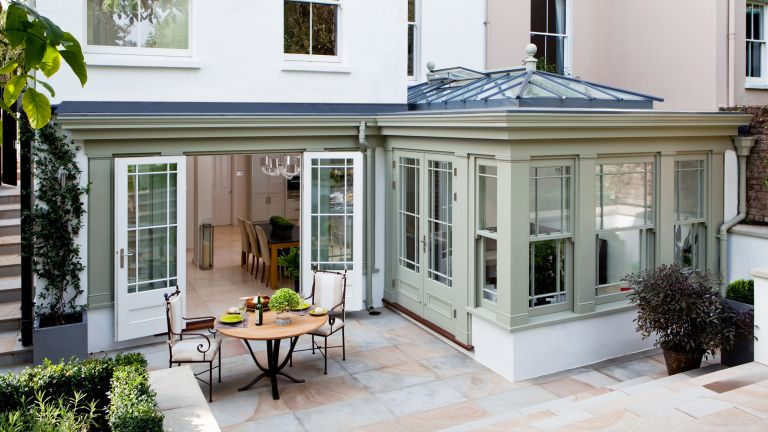 Orangery addition to period home by Westbury