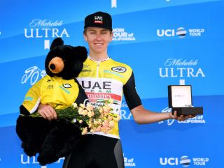 Tadej Pogacar (UAE Team Emirates) takes the spoils for having won the overall classification at the 2019 Tour of California