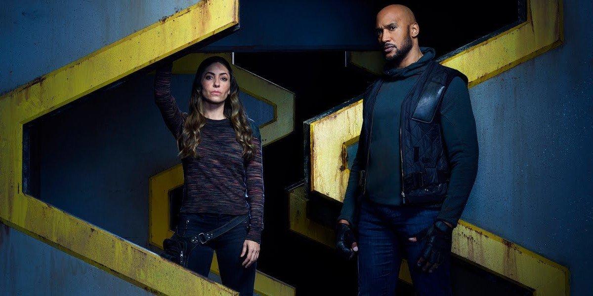 "Natalia Cordova-Buckley as Elena ""Yo-Yo"" Rodriguez and Henry Simmons as Alphonso ""Mack"" Mackenzie for Agents of S.H.I.E.L.D."