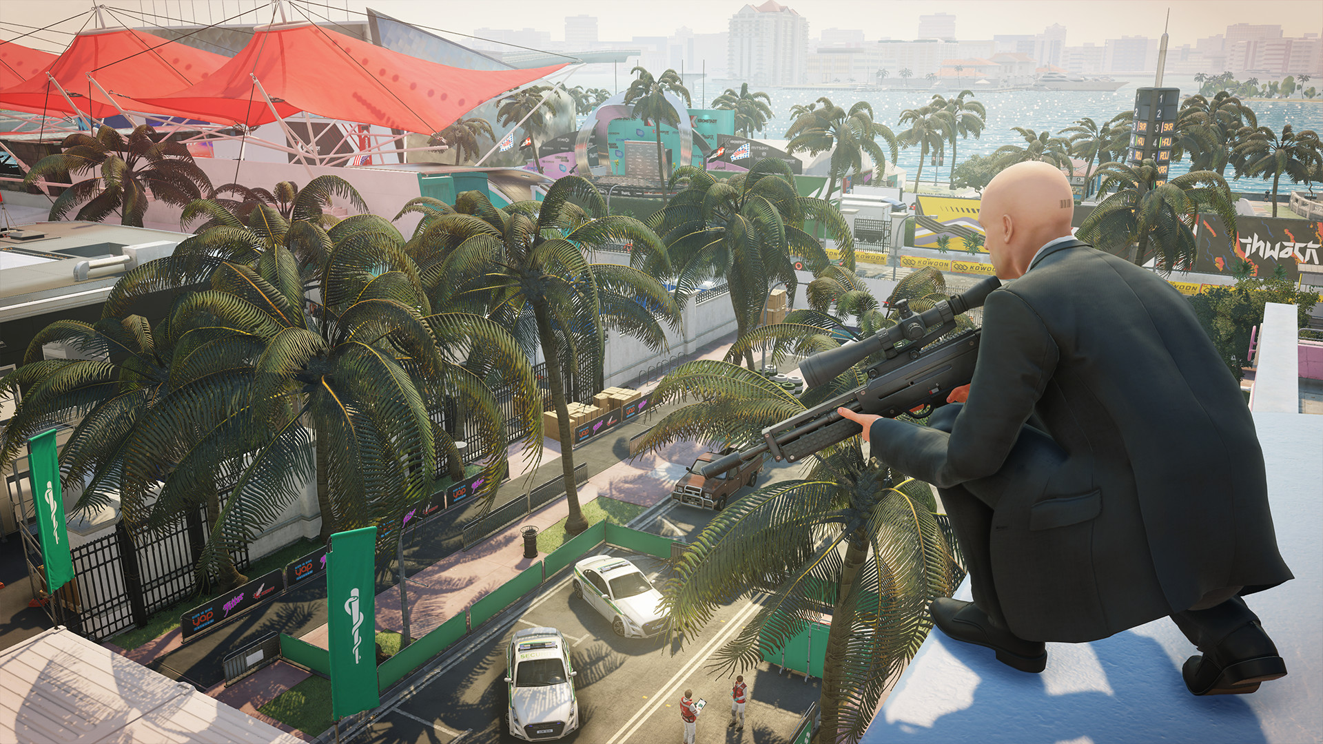 Check out Hitman 2's dazzling Miami level in this new trailer