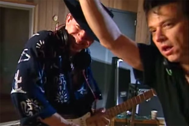 See Stevie Ray Vaughan and Jimmie Vaughan in the Studio Together