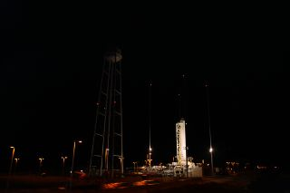 Orbital Sciences Corp. Antares rocket on the launch pad.