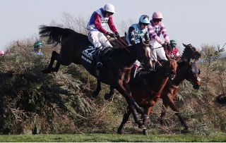 What time is The Grand National on? Pictured, last year's winner One For Arthur
