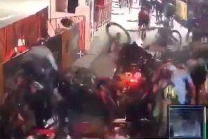 Stalled motorcycle causes huge crash in Red Hook Criterium (video)