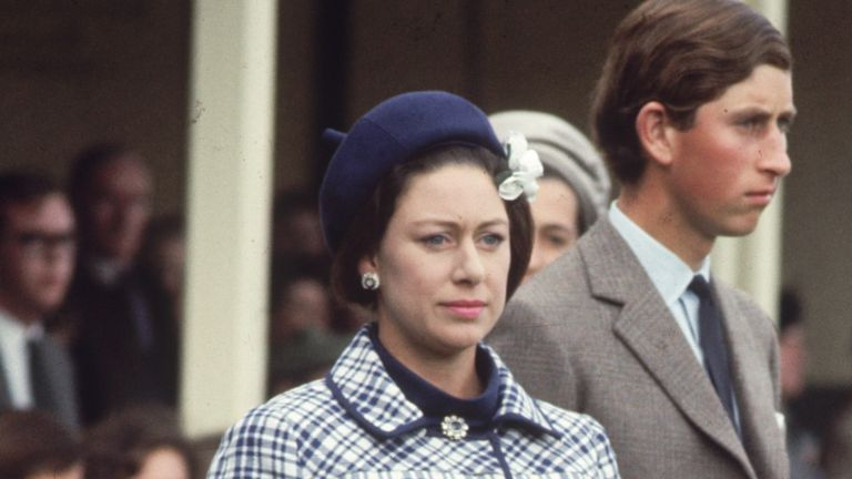 7th september 1968: A young David Linley attends the Braemar Games in Scotland with his mother, Princess Margaret (1930 - 2002) and his cousins, Prince Charles and Princess Anne. (Photo by George Freston/Fox Photos/Getty Images)