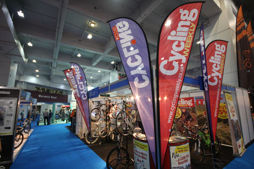 Cycling Weekly stand, Cycle Show 2010, Friday