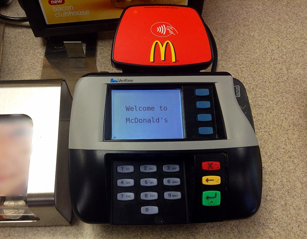 McDonalds branded POS system