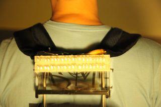 Wearable generator, self-charging backpack