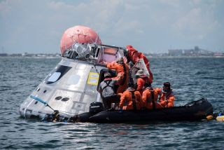 Orion space capsule in Gulf of Mexico