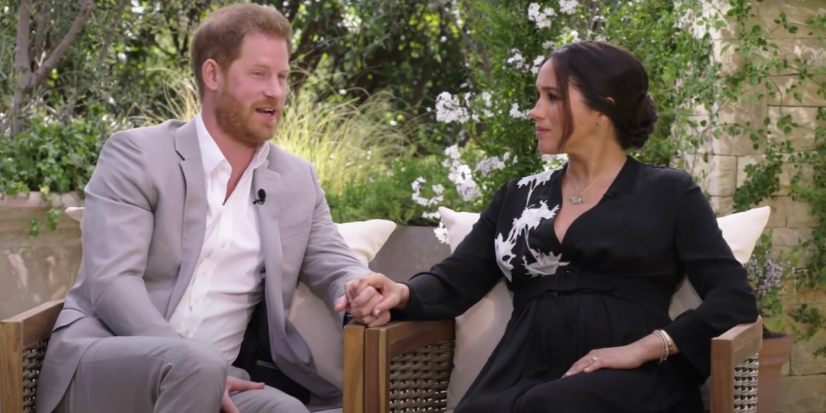 Prince Harry and Meghan Markle on Oprah with Meghan and Harry: A CBS Primetime Special