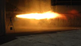 SPG's successfully test-fired its 22-inch hybrid rocket motor