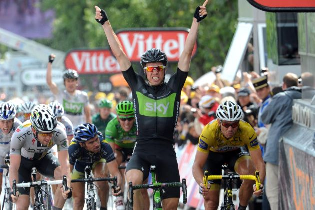 Edvald Boasson-Hagen wins, Tour de France 2011, stage six