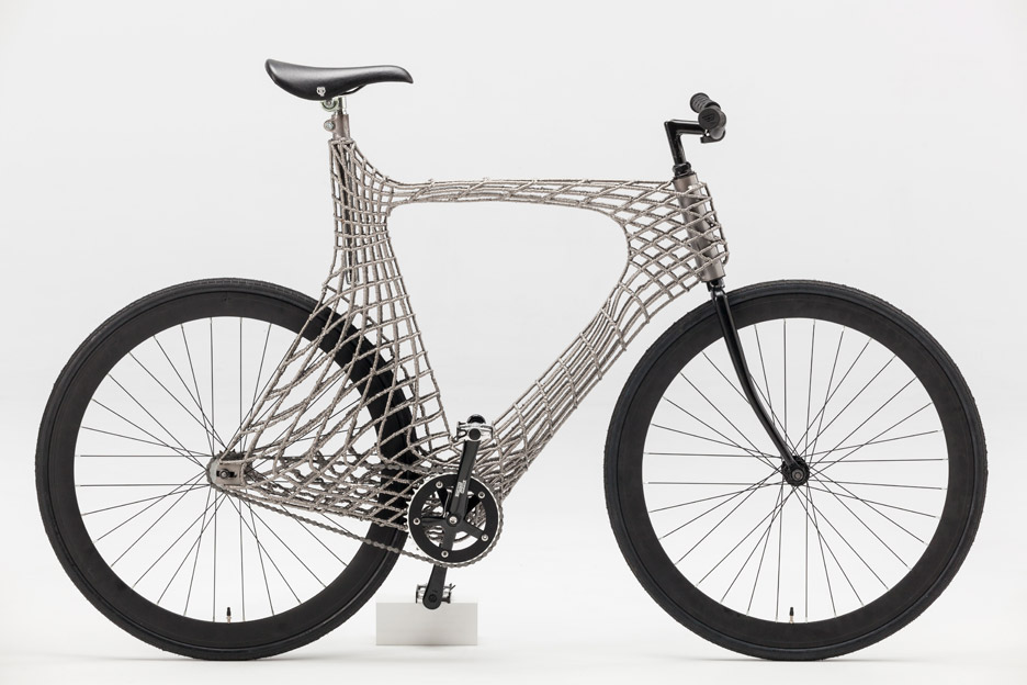 The world\'s first 3D-printed steel bike frame is like nothing you\'ve ...