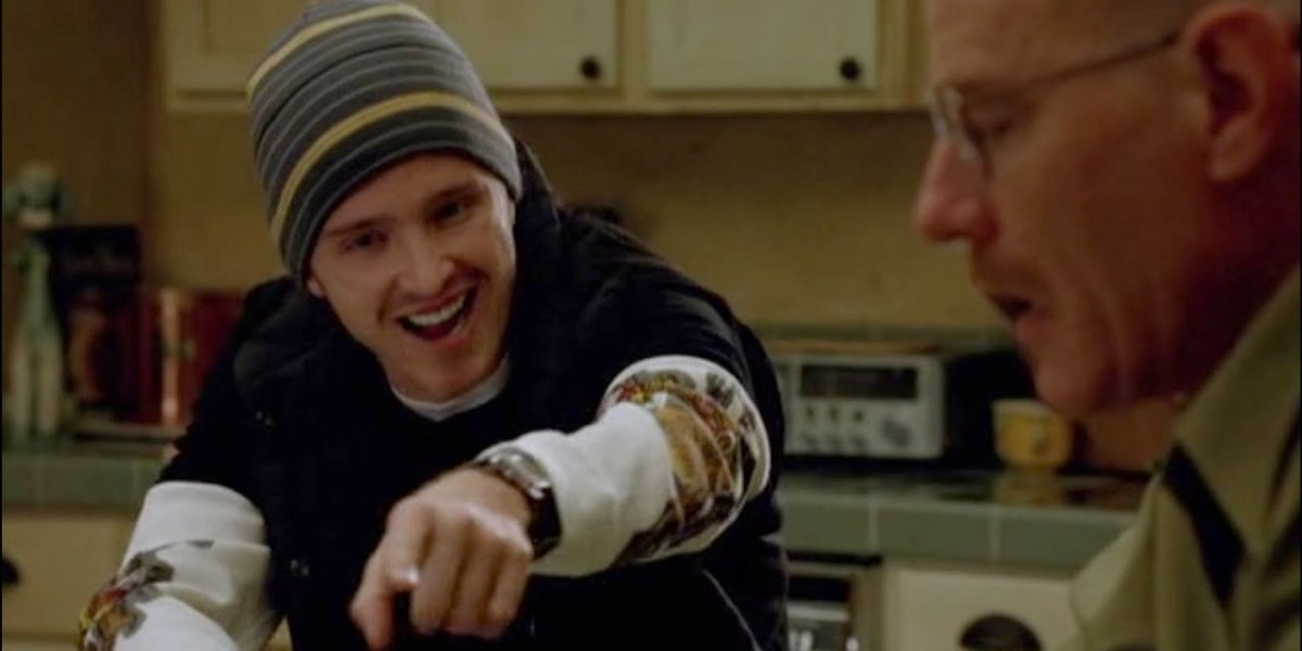 """The moment when Jesse says """"Yeah, science!"""" in Breaking Bad."""