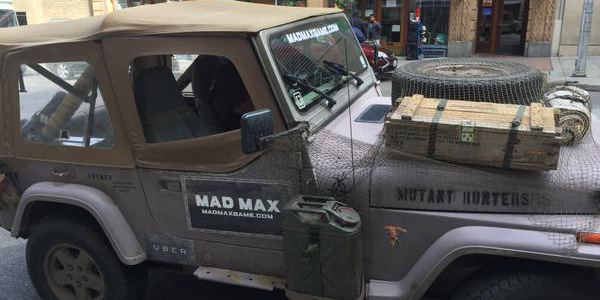 Uber Drivers Are Using Mad Max Vehicles This Weekend