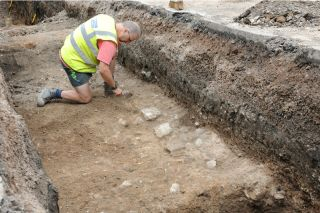 King Richard III excavation trenches