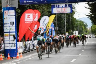 Pascal Ackermann (Bora-Hansgrohe) wins stage 2 in the Sibiu Tour